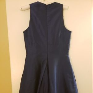 Midnight color dress Alfred Sung bridesmaids